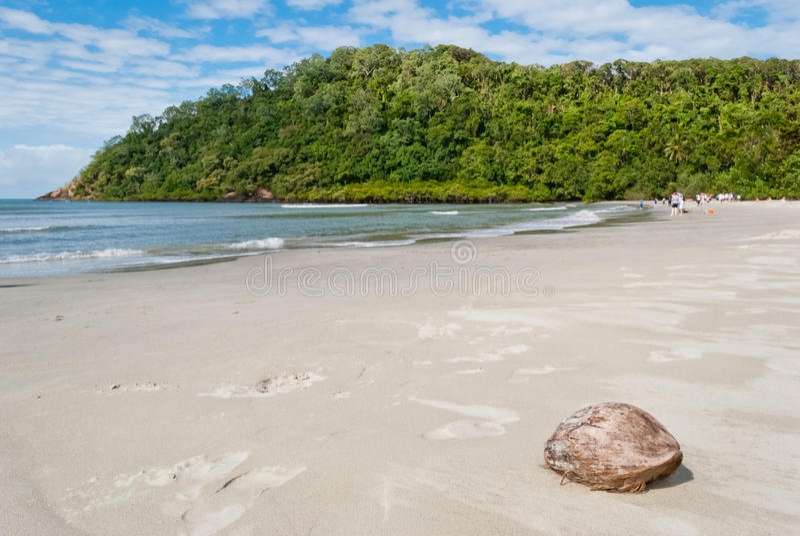 Spiaggia di tribolazione del capo, Queensland immagini stock