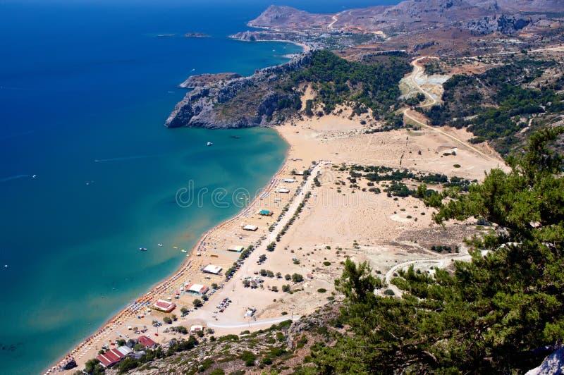 Spiaggia di Tsambika fotografie stock