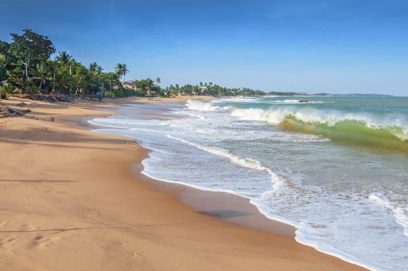 spiaggia di Unawatuna, vicino a Galle, Sri Lanka, Asia fotografia stock