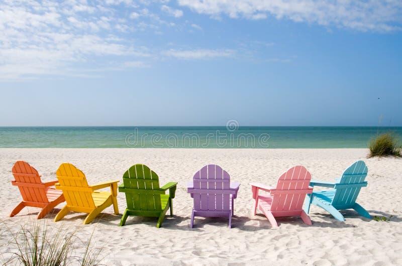 Spiaggia di vacanza di estate fotografie stock libere da diritti