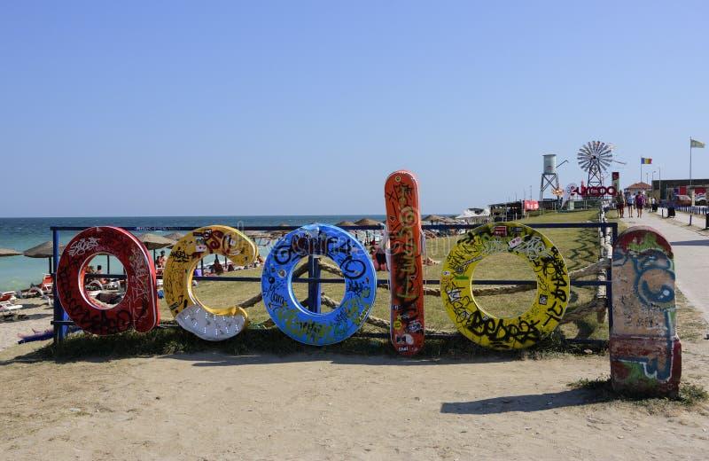 Spiaggia di Vama Veche, Romania fotografia stock libera da diritti