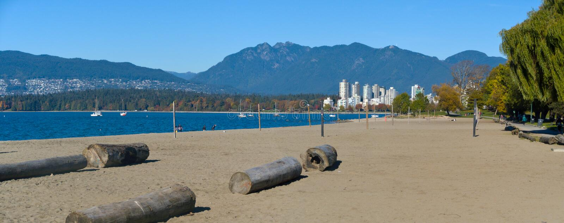 Spiaggia di Vancouver Kitsilano immagine stock