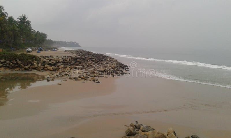 Spiaggia di Varkala fotografie stock libere da diritti