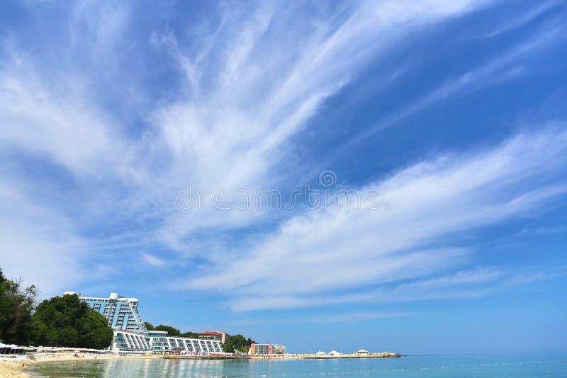 Spiaggia di Varna su Mar Nero fotografia stock libera da diritti