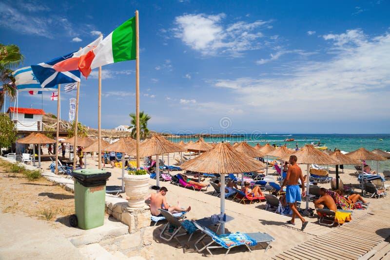 Spiaggia di Vassilikos, Zacinto, Grecia immagini stock libere da diritti