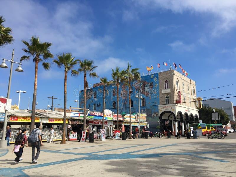 Spiaggia di Venezia in LA fotografia stock