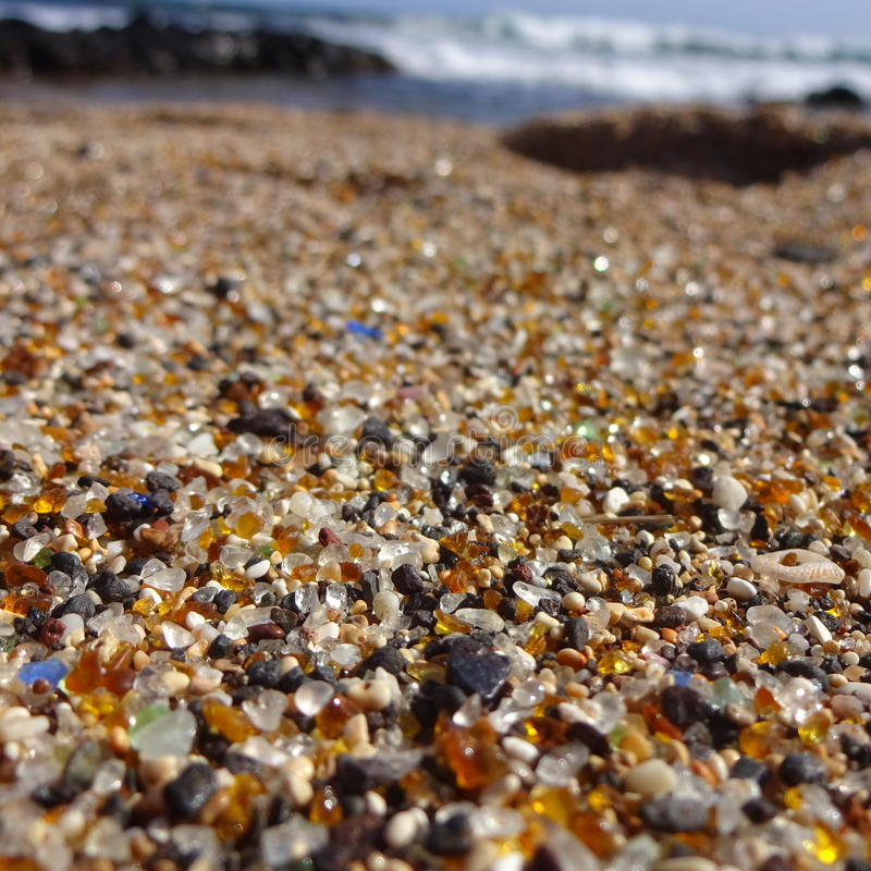 Spiaggia di vetro Kauai Hawai fotografie stock libere da diritti