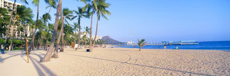 Spiaggia di Waikiki fotografie stock libere da diritti