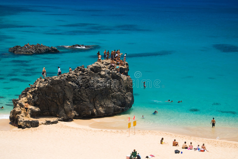 Spiaggia di Waimea immagini stock libere da diritti