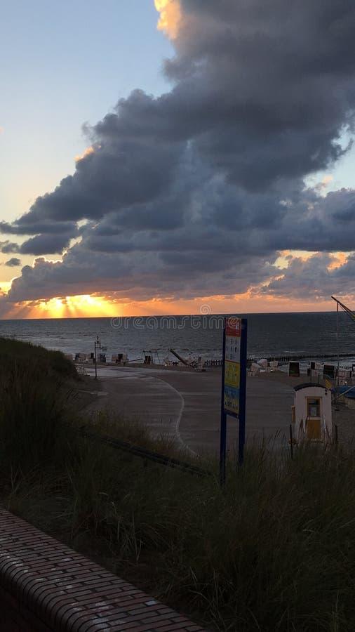 Spiaggia di Wangerooge immagine stock