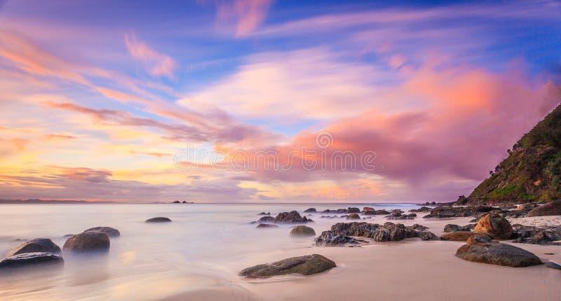 Spiaggia di Wategoes, Byron Bay, NSW, Australia immagini stock