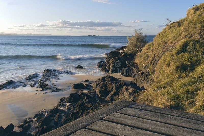 Spiaggia di Wategos in Byron Bay fotografia stock libera da diritti