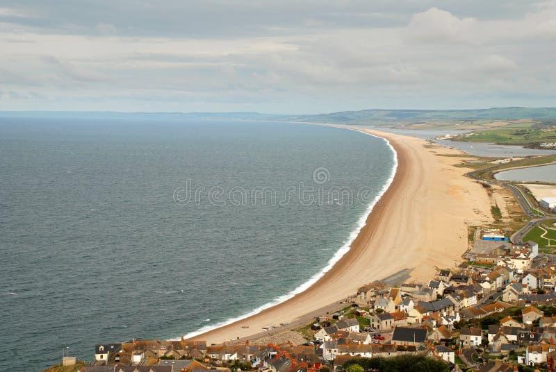 Spiaggia di Weymouth immagine stock