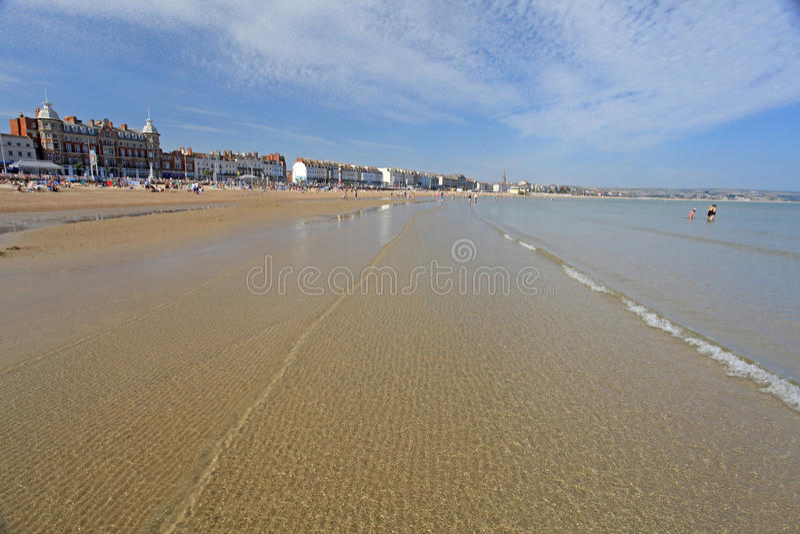 Spiaggia di Weymouth fotografie stock