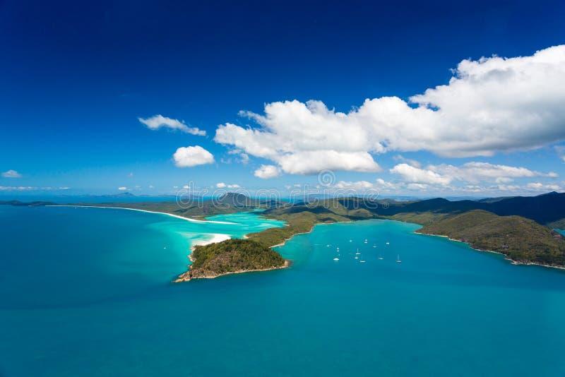 Spiaggia di Whitehaven, Queensland, Australia fotografia stock libera da diritti
