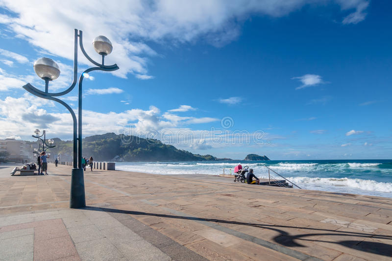 Spiaggia di Zarautz immagini stock libere da diritti