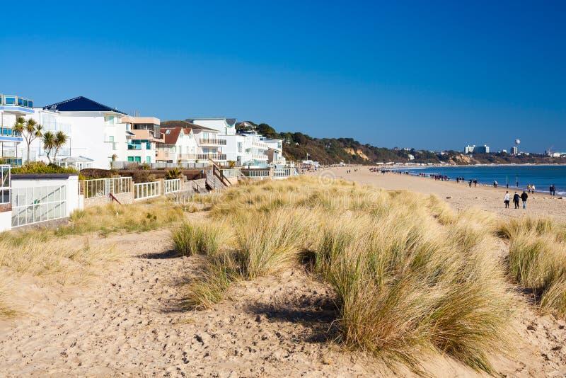 Spiaggia Dorset dei banchi di sabbia immagini stock libere da diritti