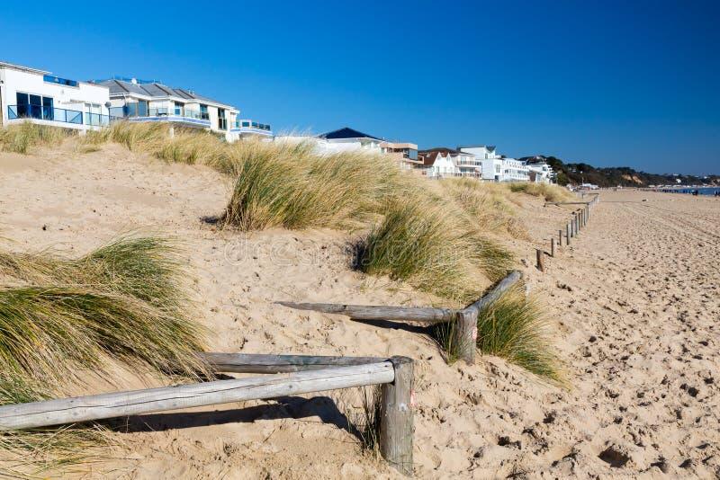 Spiaggia Dorset dei banchi di sabbia fotografie stock libere da diritti