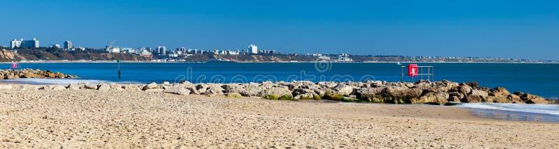 Spiaggia Dorset dei banchi di sabbia fotografia stock