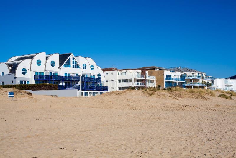 Spiaggia Dorset dei banchi di sabbia immagine stock