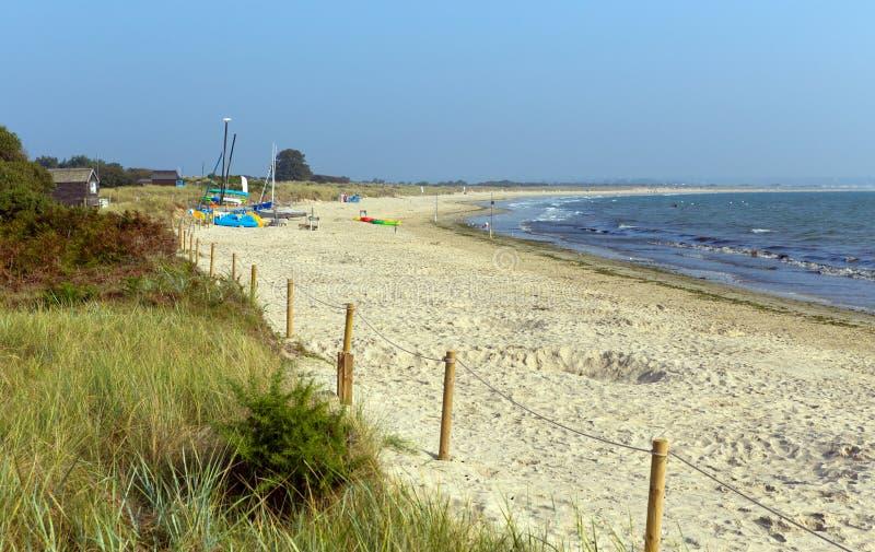 Spiaggia Dorset Inghilterra Regno Unito della collinetta di Studland fotografie stock