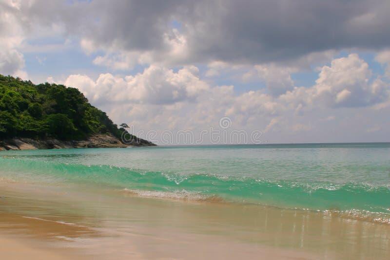Spiaggia e cielo blu fotografie stock libere da diritti