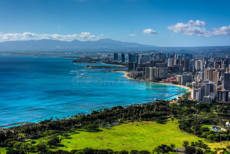 Spiaggia e Honolulu di Waikiki immagine stock