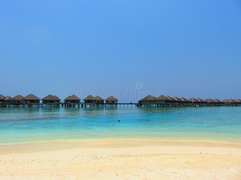 Spiaggia E Mare Delle Isole Delle Maldive Con La Località Di ...