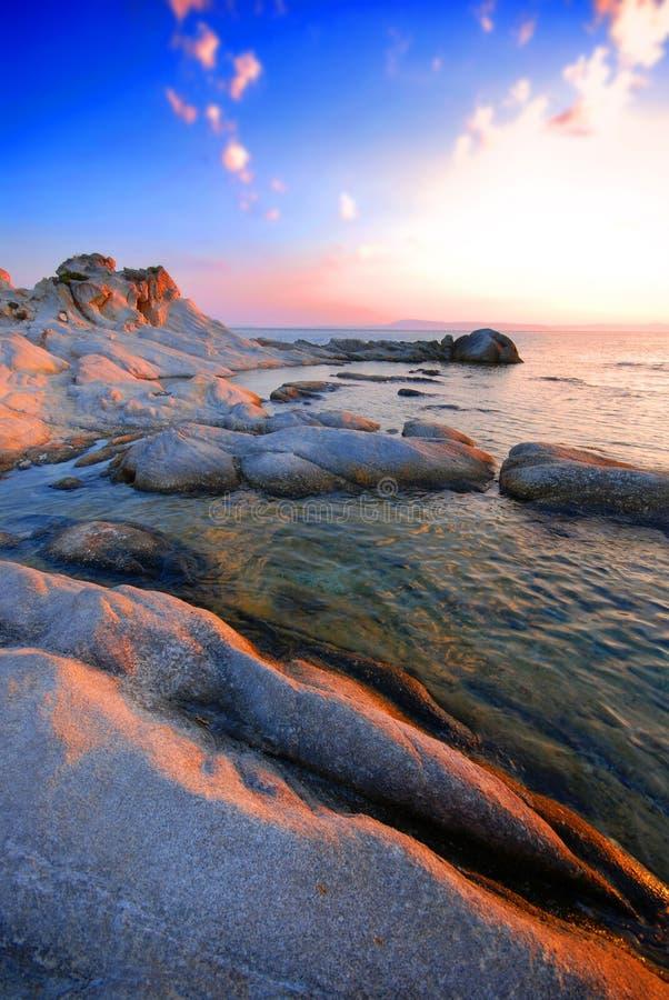 Spiaggia e mare in Grecia   fotografia stock