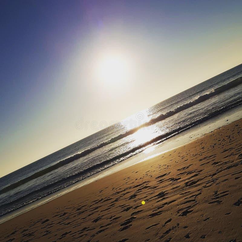 Spiaggia e Sun in Spagna fotografia stock libera da diritti