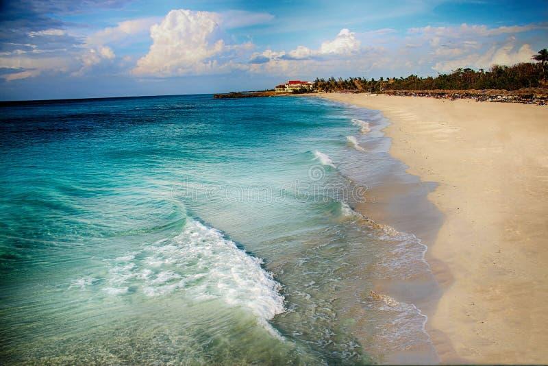 Spiaggia ed oceano Varadero in Cuba immagine stock