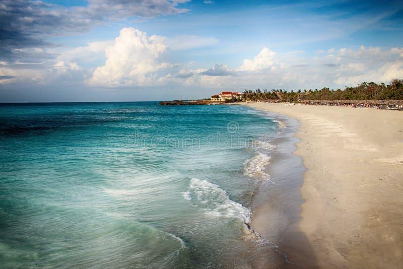 Spiaggia ed oceano Varadero in Cuba immagini stock libere da diritti