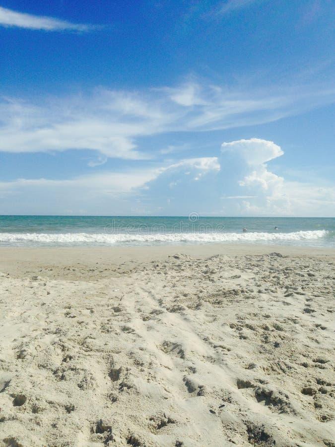 Spiaggia - Emerald Isle, NC fotografia stock libera da diritti