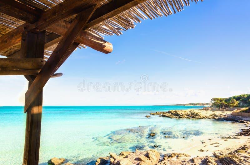 Spiaggia esotica meravigliosa, Stintino, Sardegna, Italia immagini stock