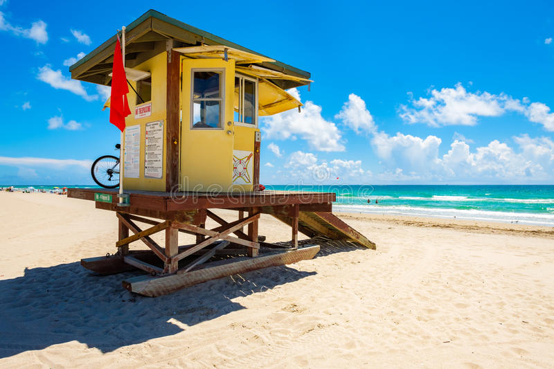 Spiaggia Florida di Hollywood fotografia stock