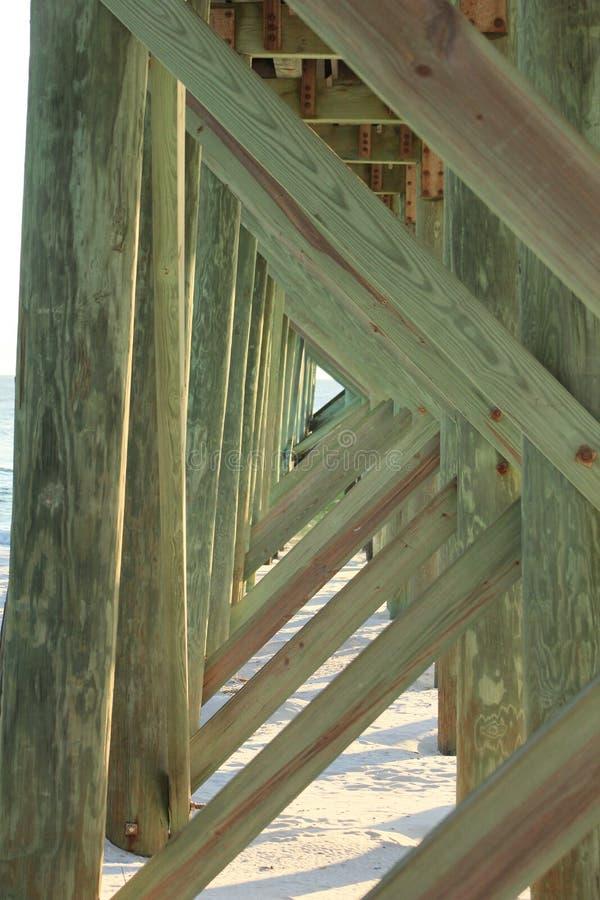 Spiaggia Florida di Panama City sotto il pilastro del sentiero costiero fotografia stock libera da diritti