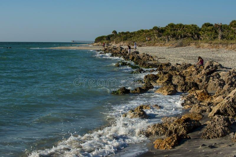 Spiaggia Florida di Venezia fotografie stock