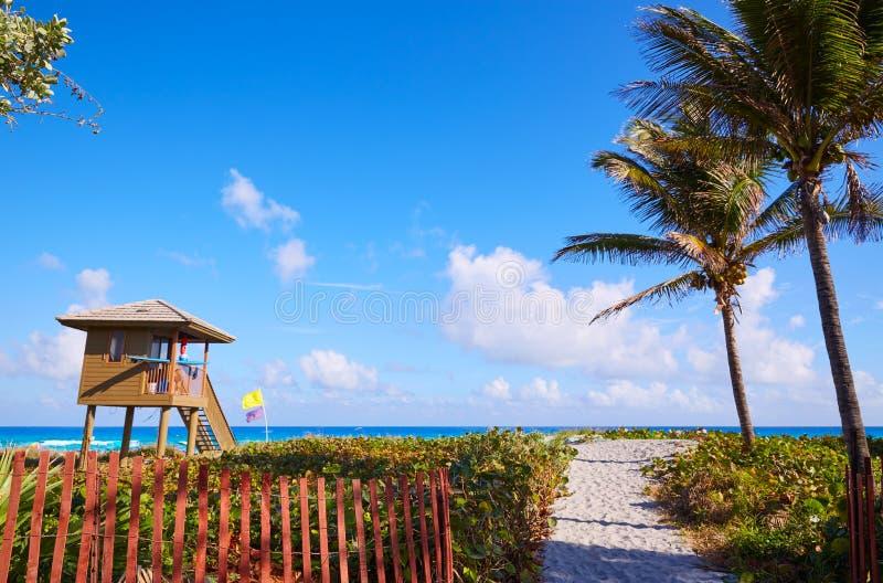 Spiaggia Florida U.S.A. di Del Ray Delray fotografia stock libera da diritti