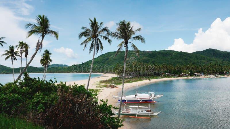 Spiaggia gemellata, EL Nido, Palawan fotografie stock libere da diritti