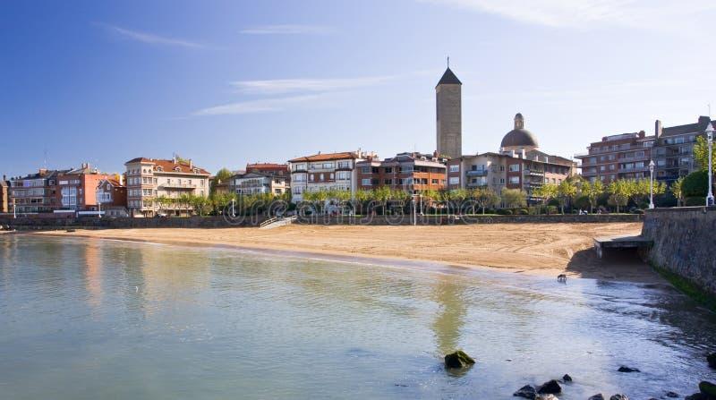 Spiaggia a Getxo immagini stock