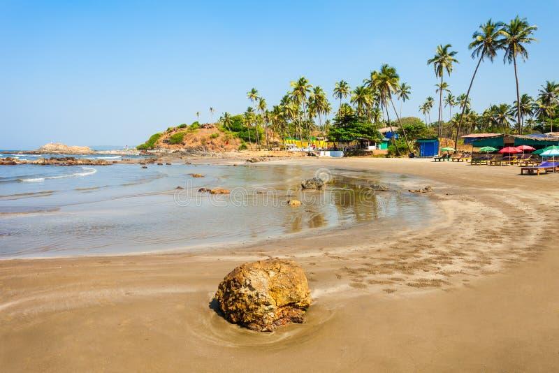 Spiaggia in Goa, India immagini stock libere da diritti