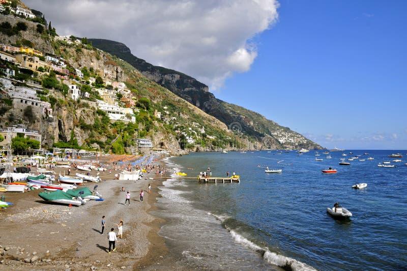 Spiaggia grande, Positano, Italia fotografia stock libera da diritti