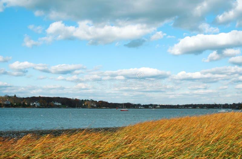 Spiaggia a Greenwich, Connecticut immagine stock libera da diritti