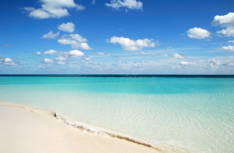 Spiaggia incontaminata fotografie stock libere da diritti