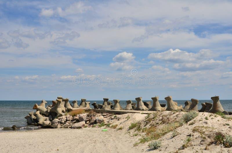 Spiaggia, inguine, cielo, cloudscape fotografie stock libere da diritti