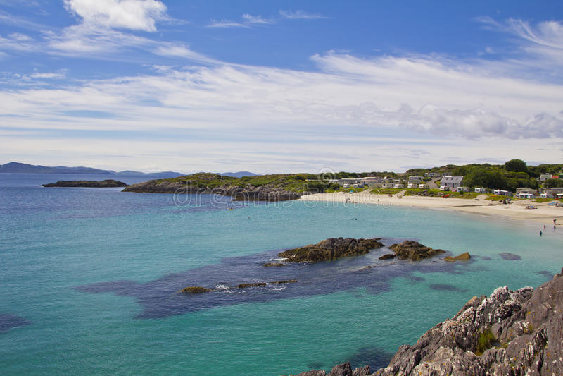Spiaggia irlandese fotografia stock libera da diritti