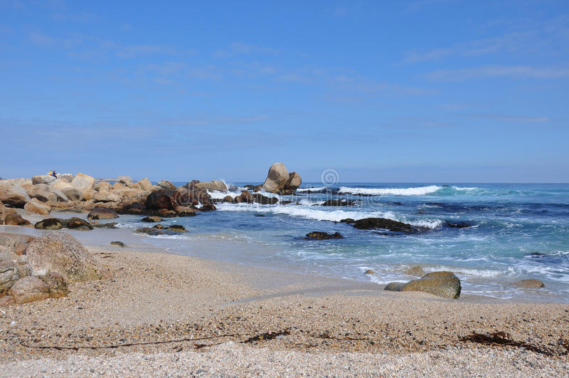 Spiaggia in Isla Negra, Cile immagini stock