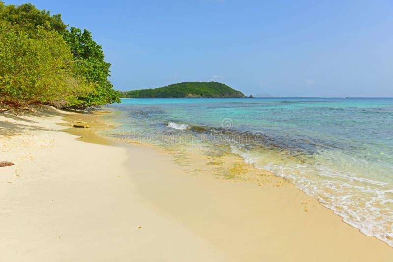 Spiaggia in Isole Vergini americane, U.S.A. di Hawksnest immagine stock
