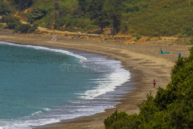 Spiaggia Jijel, Algeria immagini stock