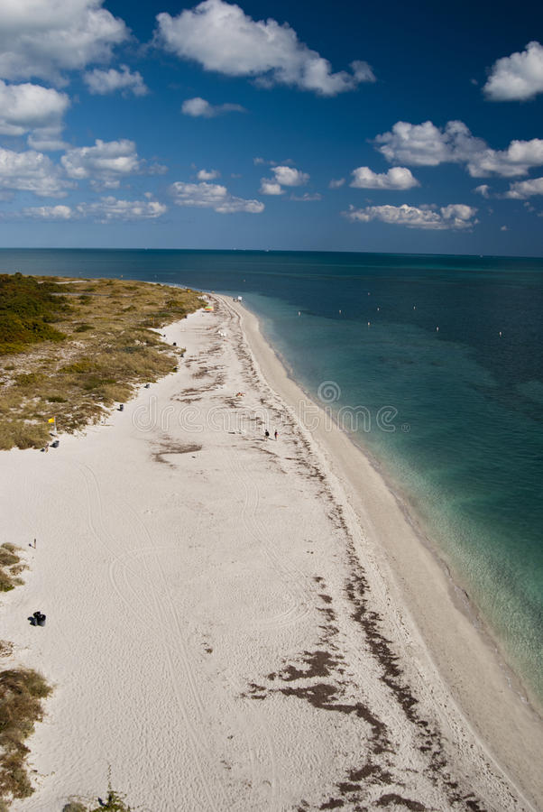 Spiaggia a Key Biscayne fotografia stock